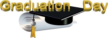 Graduation day  illustration Royalty Free Stock Photography