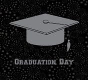 Graduation day. Over black background  illustration Royalty Free Stock Image