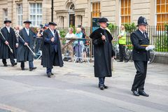 Graduation day. Oxford, England royalty free stock photography