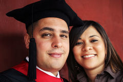 Graduation day portrait royalty free stock photo