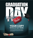 Graduation Day sale background EPS 10 vector Royalty Free Stock Photo