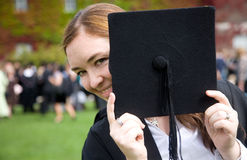 Graduation day - woman Stock Photo