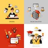 Graduation Design Concept Set Stock Photo