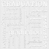 Graduation Design with Gray Wavy Stripes Pattern Repeat Backgrou Royalty Free Stock Photo