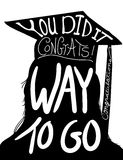 Graduation design image, congratulations to graduate with cap and tassel Royalty Free Stock Photos