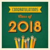2018 graduation design with light bulb sign numbers Stock Photography