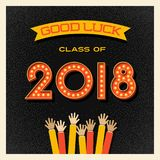 2018 graduation design with light bulb sign numbers Stock Images