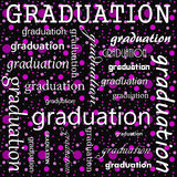Graduation Design with Pink and Black Polka Dot Tile Pattern Rep Royalty Free Stock Photos