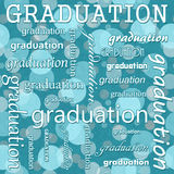 Graduation Design with Teal Polka Dot Tile Pattern Repeat Backgr Royalty Free Stock Photo