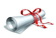 Graduation diploma Stock Images