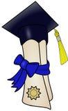 Graduation Diploma. A diploma wearing a graduation cap Royalty Free Stock Image