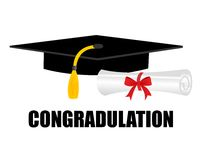 Graduation diploma and cap Royalty Free Stock Photos