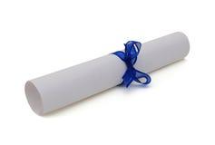 Graduation diploma scroll Royalty Free Stock Photo