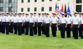 Graduation du garde côtier des USA Image stock