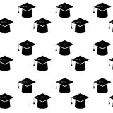 Graduation education cap seamless pattern Royalty Free Stock Image