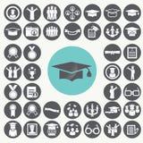 Graduation and Education icons set. Royalty Free Stock Image