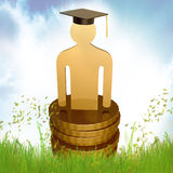 Graduation, education and knowledge icon Stock Image