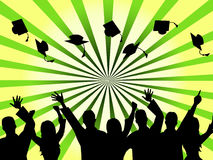 Graduation Education Means Studying Ceremony And Masters Royalty Free Stock Photo