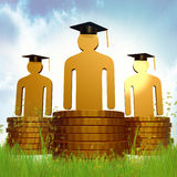 Graduation, education and scholarship icon Royalty Free Stock Photography