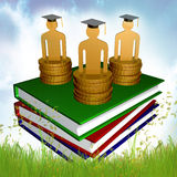 Graduation, education and scholarship icon Royalty Free Stock Image