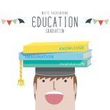 Graduation (Education). Vector Illustration of graduation (Education royalty free illustration