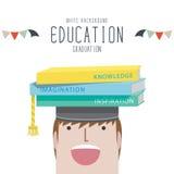 Graduation (Education). Vector Illustration of graduation (Education Stock Photography