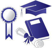 Graduation elements Royalty Free Stock Photography