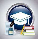 Graduation emblem Stock Images