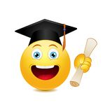 Graduation emoticon Royalty Free Stock Photography
