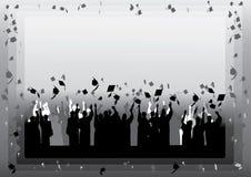 Graduation en silhouette Photographie stock libre de droits