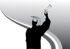 Graduation en silhouette Photographie stock