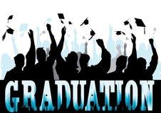 Graduation en silhouette Images stock