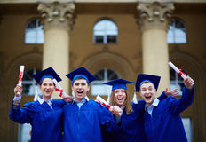 Graduation excitement Stock Photography