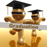 Graduation finish line 3d icon. Illustration Royalty Free Stock Images