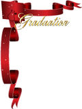 Graduation frame border. Happy graduation frame border with red Stock Photos