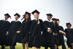 Graduation Friend Achievement Celebrate Degree Concept stock images