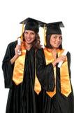 Graduation Friends. Girls celebrating their graduation very happy stock photo