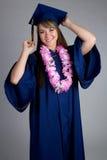 Graduation Girl. Beautiful high school graduation girl Stock Photography