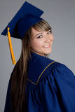 Graduation Girl. Smiling high school graduation girl Royalty Free Stock Photography