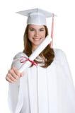 Graduation Girl. Pretty teen smiling graduation girl Royalty Free Stock Images
