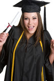 Graduation Girl. Beautiful excited teen graduation girl Royalty Free Stock Image
