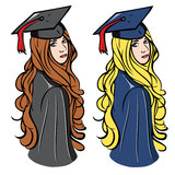 Graduation girls Stock Photography