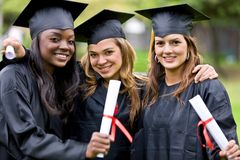 Graduation girls Stock Image