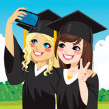 Graduation Girls Selfie Stock Images