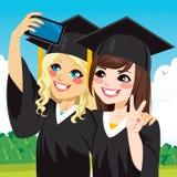 Graduation Girls Selfie Stock Images