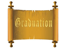 Graduation gold certificate scrolls Royalty Free Stock Photography
