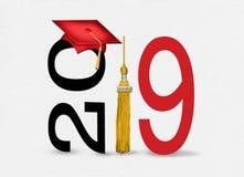 Graduation 2019 gold tassel stock illustration