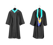 Graduation gown with hood Stock Photo