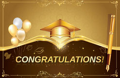 Graduation greeting card, also for print. Royalty Free Stock Image