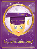 Graduation greeting card for print Royalty Free Stock Images